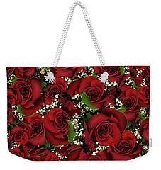 Carmine Roses Weekender Tote Bag