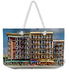 Weekender Tote Bag featuring the photograph Carmine Street by Chris Lord