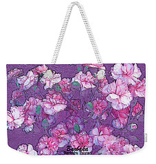 Weekender Tote Bag featuring the digital art Carnation Inspired Art by Barbara Tristan