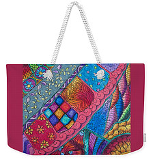 Weekender Tote Bag featuring the drawing Carnival by Megan Walsh