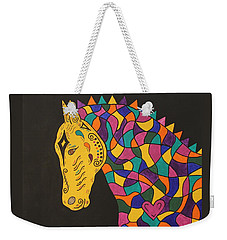 Carnival Stained Glass Tribal Horse Weekender Tote Bag