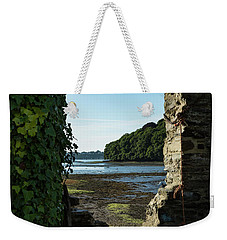Weekender Tote Bag featuring the photograph Photographs Of Cornwall Carnon Mine Window by Brian Roscorla