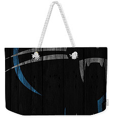 Caroilina Panthers Wood Fence Weekender Tote Bag