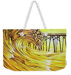 Carolina Beach North End Pier Weekender Tote Bag