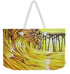 Carolina Beach North End Pier Weekender Tote Bag