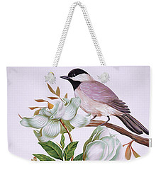 Carolina Chickadee And Magnolia Flower Weekender Tote Bag