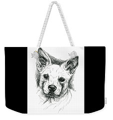 Carolina Dog Charcoal Portrait Weekender Tote Bag