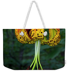 Weekender Tote Bag featuring the photograph Carolina Lily by Barbara Bowen