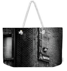 Carolina Theatre Neon In Black And White Weekender Tote Bag