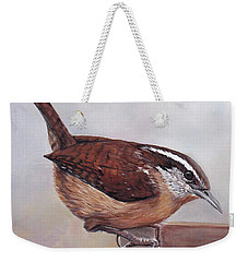 Carolina Wren Weekender Tote Bag