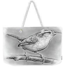 Carolina Wren Weekender Tote Bag by Greg Joens