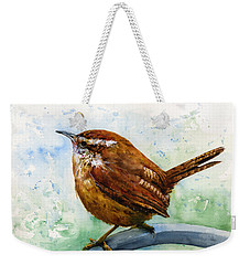Carolina Wren Large Weekender Tote Bag