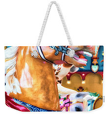 Weekender Tote Bag featuring the photograph Carousel Cowboy by Mel Steinhauer