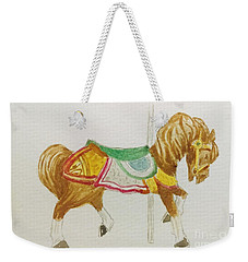 Weekender Tote Bag featuring the painting Carousel Horse by Stacy C Bottoms