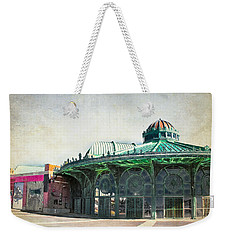 Carousel House At Asbury Park Weekender Tote Bag by Colleen Kammerer