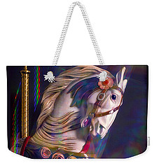 Weekender Tote Bag featuring the photograph Carousel Memories by Marie Hicks