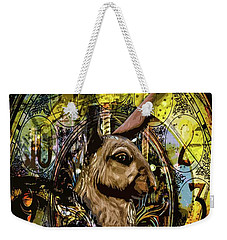 Weekender Tote Bag featuring the photograph Carousel Rabbit by Michael Arend