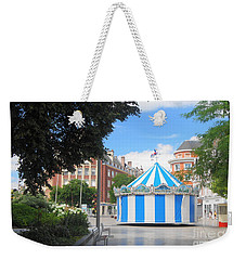 Weekender Tote Bag featuring the photograph Carousel by Therese Alcorn