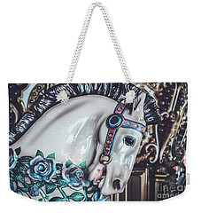 Weekender Tote Bag featuring the photograph Carousel Time by Colleen Kammerer