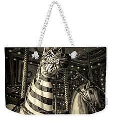 Carousel Zebra Weekender Tote Bag by Caitlyn Grasso