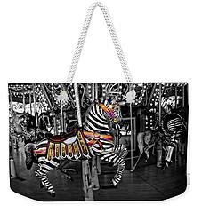 Carousel Zebra Series 2222 Weekender Tote Bag