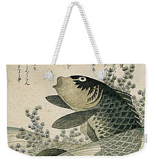 Carp Among Pond Plants Weekender Tote Bag