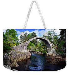 Carr Bridge Scotland Weekender Tote Bag by Don and Bonnie Fink