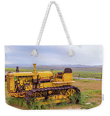 Weekender Tote Bag featuring the photograph Carrizo Plain Bulldozer by Marc Crumpler