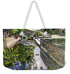 Weekender Tote Bag featuring the painting Carroll Creek 2016 by Ron Richard Baviello
