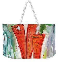 Carrots Weekender Tote Bag by Linda Woods