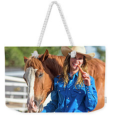Carrots,cowgirls And Horses  Weekender Tote Bag