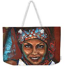 Weekender Tote Bag featuring the painting Carrying Basket by Alga Washington