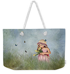 Carrying Tulips For You Weekender Tote Bag by Mary Timman