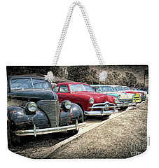 Cars For Sale Weekender Tote Bag by Marion Johnson