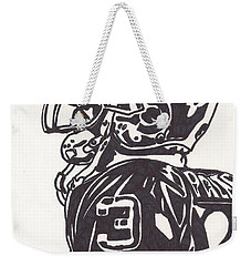 Weekender Tote Bag featuring the drawing Carson Palmer 1 by Jeremiah Colley