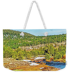 Weekender Tote Bag featuring the photograph Carson Runoff by Nancy Marie Ricketts