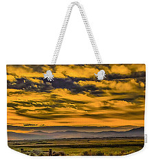 Weekender Tote Bag featuring the photograph Carson Valley Sunrise by Nancy Marie Ricketts