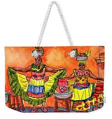 Cartagena Fruit Venders Weekender Tote Bag by Randy Sprout