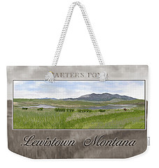Weekender Tote Bag featuring the digital art Carter's Pond by Susan Kinney