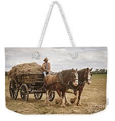 Carting Hay Weekender Tote Bag