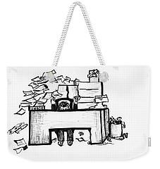 Cartoon Desk Weekender Tote Bag