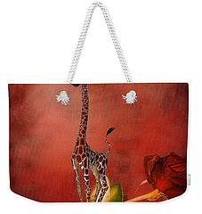 Cartoon Giraffe Weekender Tote Bag