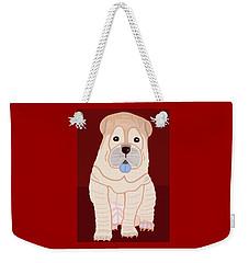 Cartoon Shar Pei Weekender Tote Bag by Marian Cates