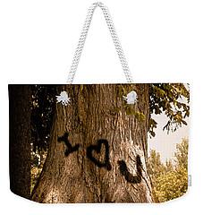 Carve I Love You In That Big White Oak Weekender Tote Bag