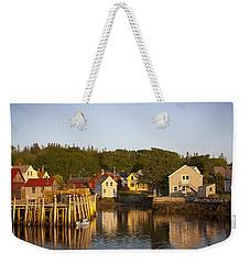 Carvers Harbor At Sunset, Vinahaven, Maine Weekender Tote Bag