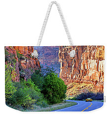 Weekender Tote Bag featuring the photograph Carving The Canyons - Unaweep Tabeguache - Colorado by Jason Politte