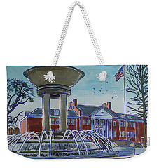 Cary Arts Center And Fountain Weekender Tote Bag