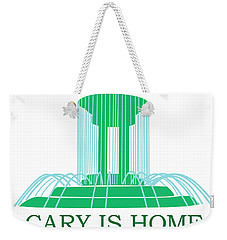 Cary Fountain Blue Water Weekender Tote Bag