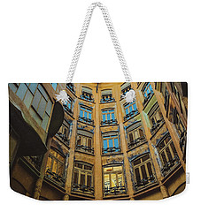 Weekender Tote Bag featuring the photograph Casa Mila - Barcelona by Colleen Kammerer
