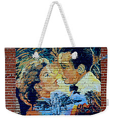 Weekender Tote Bag featuring the photograph Casablanca Mural 2013 by Padre Art